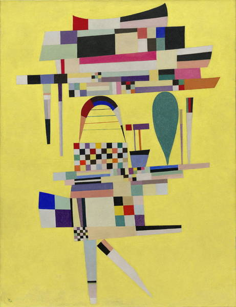 Endless Painting - Yellow Painting by Wassily Kandinsky
