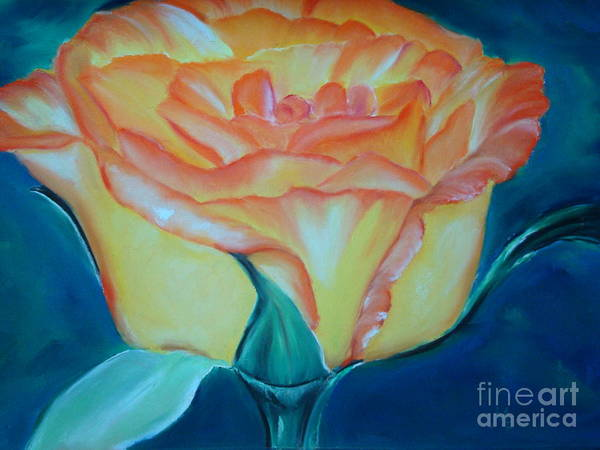 Pastel - Yellow Rose by Melinda Etzold