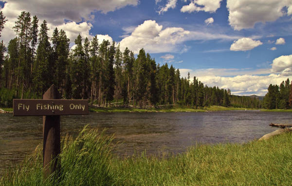 Branding Iron Photograph - Yellowstone River by N D Finer