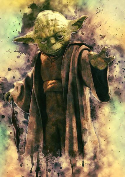 Star Wars Wall Art - Digital Art - Yoda by Zapista Zapista