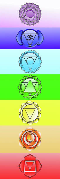 Wall Art - Painting - Yoga Chakra System  by Stephen Humphries