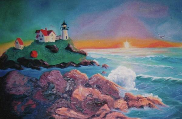 Leclair Painting - York Beach Maine by Suzanne  Marie Leclair