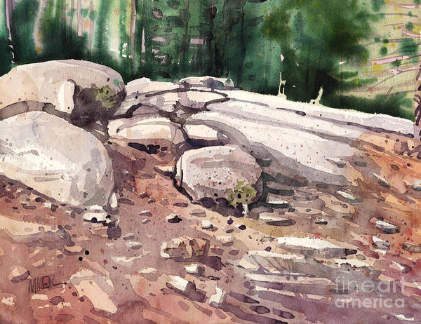 Outcrop Painting - Yosemite Granite  by Donald Maier