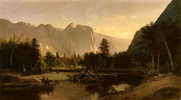 Painting - Yosemite Valley  By William Keith 1875 by Artistic Panda