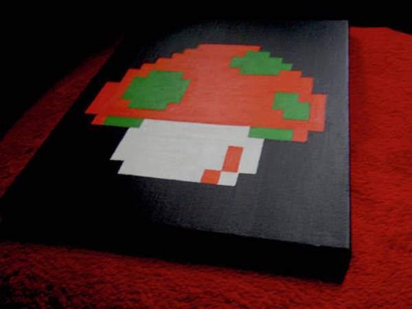 Videogame Painting - You Only Get 1up by Infinite