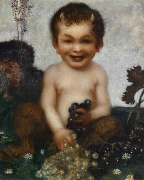 Franz Von Stuck Painting - Young Faun by Franz von Stuck