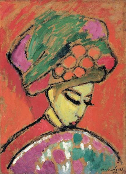 Painting - Young Girl With A Flowered Hat By Alexei Jawlensky by Artistic Panda