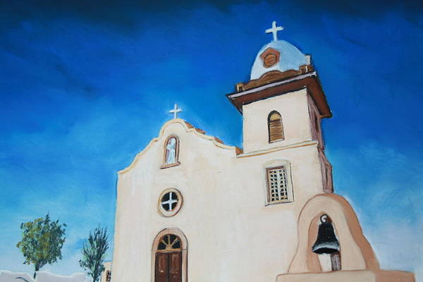 Ysleta Mission Art Print