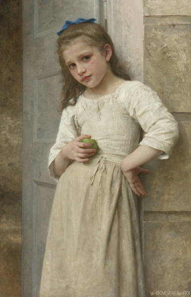 Painting - Yvonne On The Doorstep by William-Adolphe Bouguereau