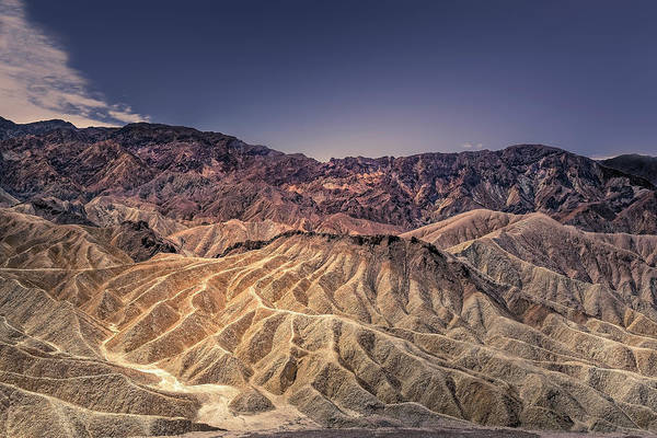 Photograph - Zabriskie Point View by Peter Lakomy