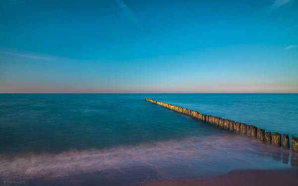 Photograph - Zen Mood Seascape In Blue And Turquoise by Julis Simo