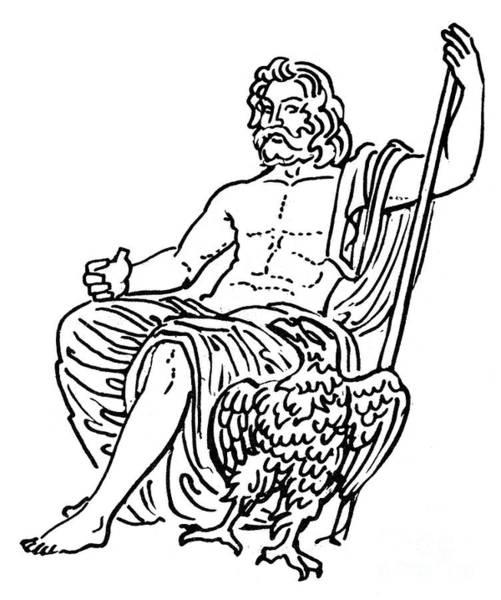 Drawing - Zeus / Jupiter by Granger