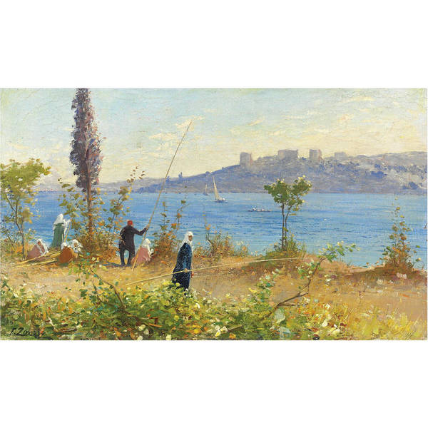 Fausto Zonaro Painting - Zonaro  Fausto Istanbul by Eastern Accent