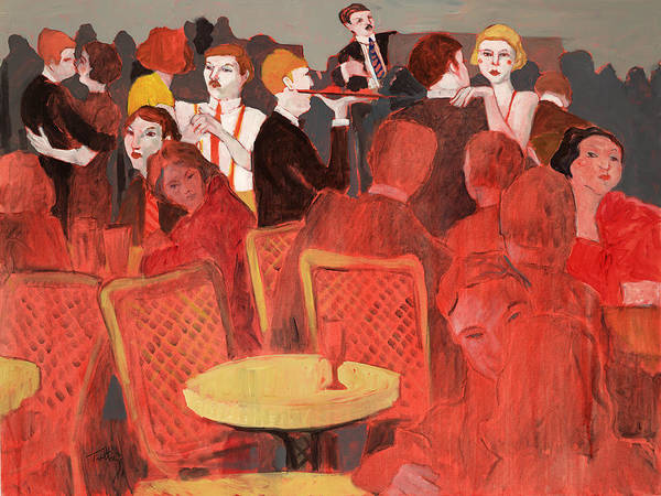 Diners Club Painting - 10 35 Pm by Thomas Tribby