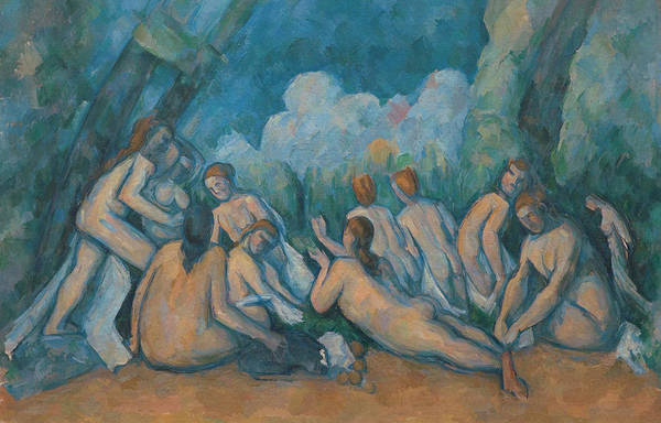 Groups Of People Painting - Bathers by Paul Cezanne