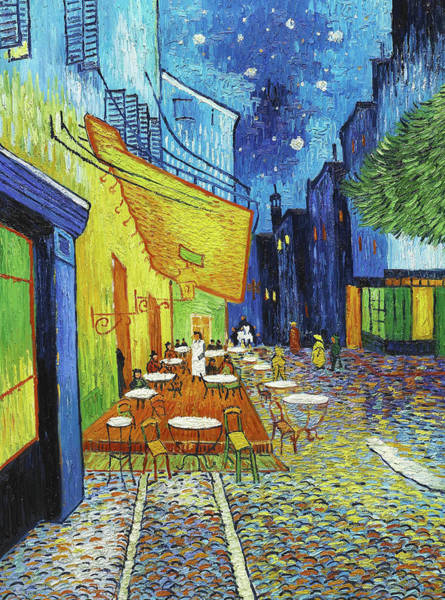 Forum Shops Painting - Cafe Terrace At Night by Vincent Van Gogh