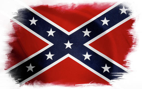 Wall Art - Photograph - Confederate Flag 10 by Les Cunliffe