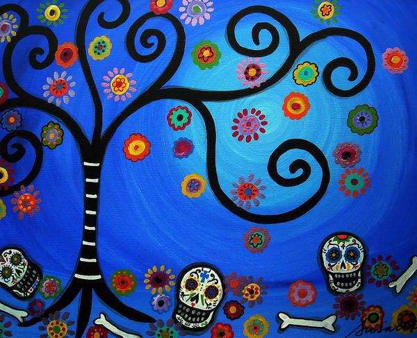 Wall Art - Painting - Dia De Los Muertos by Pristine Cartera Turkus