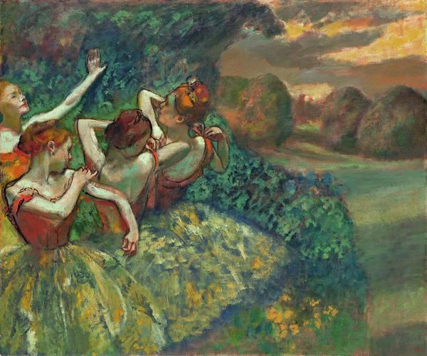 Painting - Four Dancers by Edgar Degas