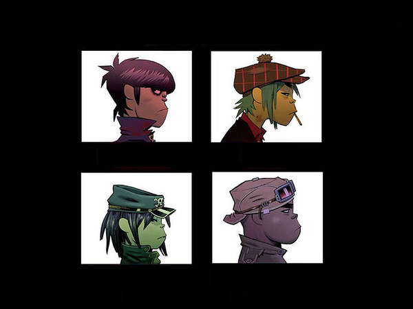 Wall Art - Digital Art - Gorillaz by Mery Moon