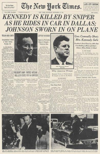 Photograph - John F Kennedy by Granger