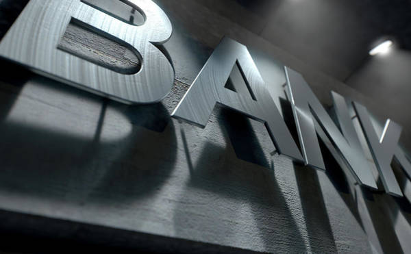 Banking Digital Art - Modern Bank Building Signage by Allan Swart