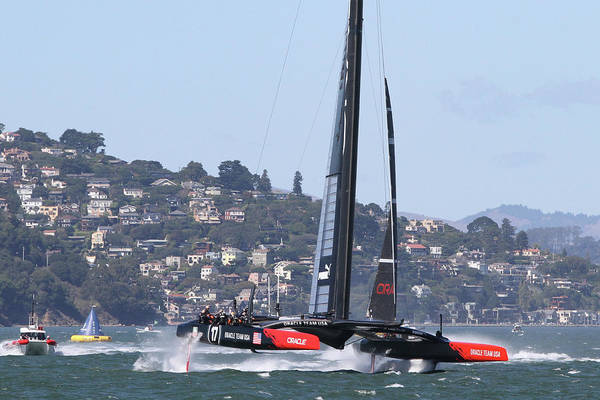 Photograph - Oracle Team Usa by Steven Lapkin