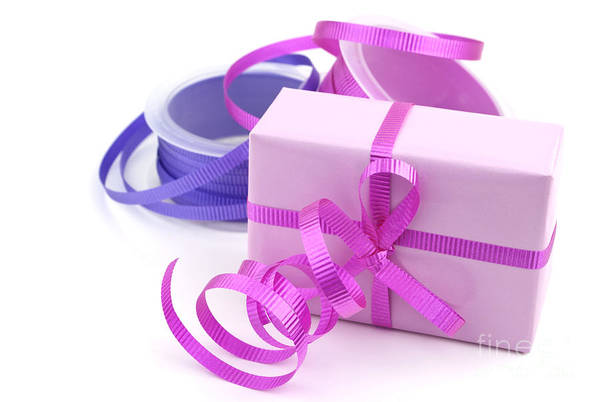 Gift Wrap Photograph - Pink Gift by Blink Images