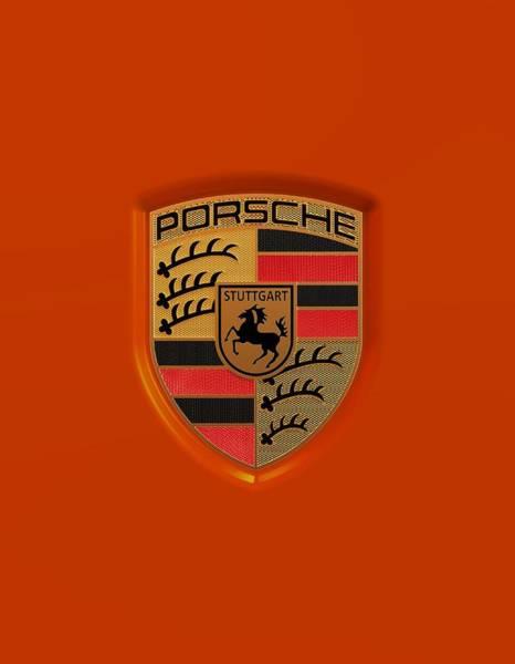 Wall Art - Digital Art - Porsche Logo by Porsche Emblem