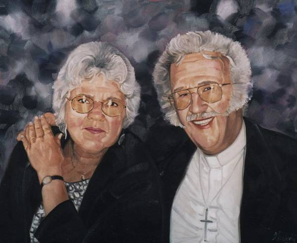 Painting - The Preacher And His Wife by Gary M Long