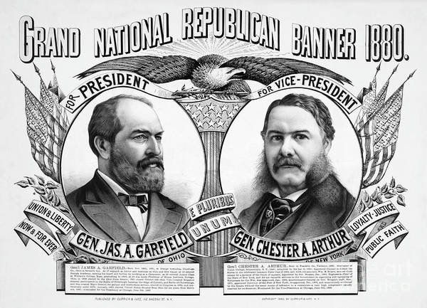 Bald Eagles Drawing - Presidential Campaign, 1880.  by Granger