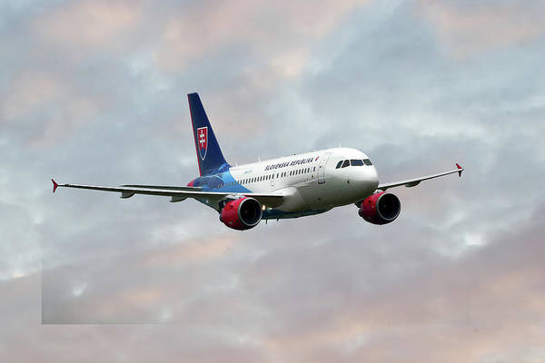 Service Photograph - Slovak Government Flying Service Airbus A319-115 by Smart Aviation
