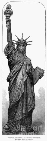 Wall Art - Photograph - Statue Of Liberty by Granger