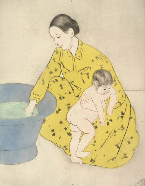 Relief - The Bath by Mary Cassatt