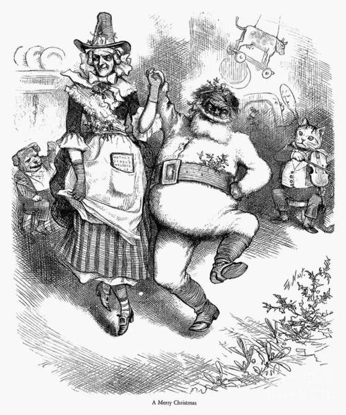 Photograph - Thomas Nast Christmas by Granger