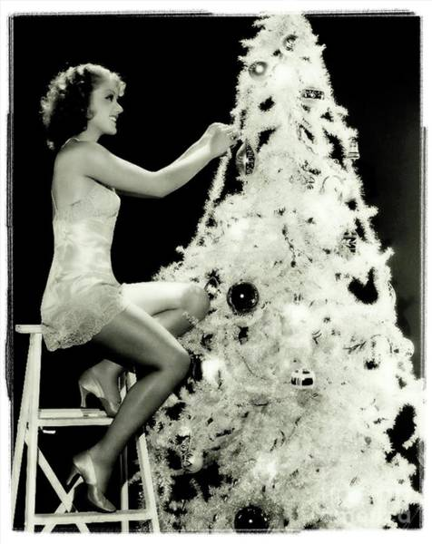Wall Art - Photograph - Vintage Hollywood Christmas Pinup by Frank Falcon