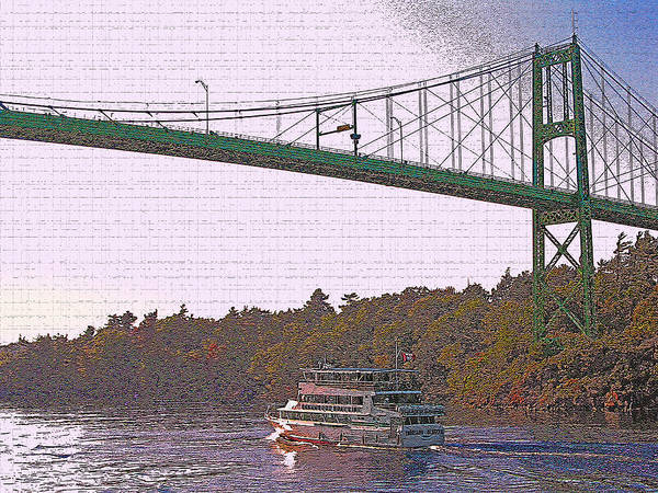 Wall Art - Photograph - 1000 Island International Bridge 4 by Steve Ohlsen