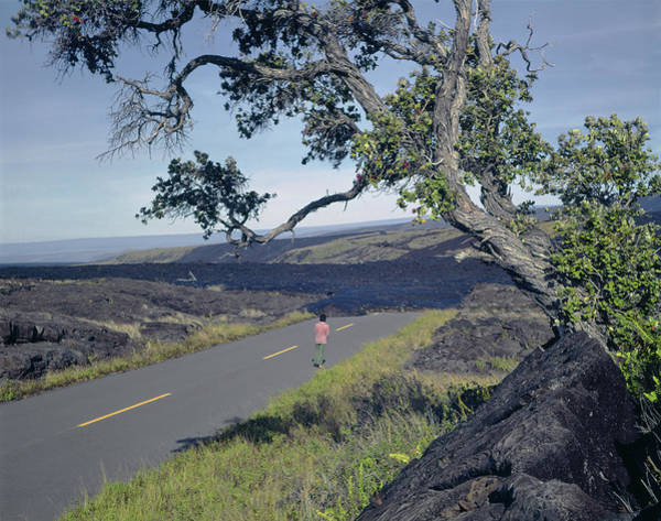 Photograph - 100924 Lava Covered Road Hi by Ed Cooper Photography