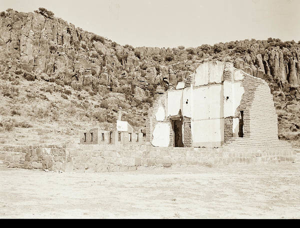 Photograph - 1009.305 Fort Davis Texas Antique Black And White by M K Miller