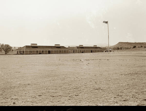 Photograph - 1009.308 Fort Davis Texas Antique Black And White by M K Miller