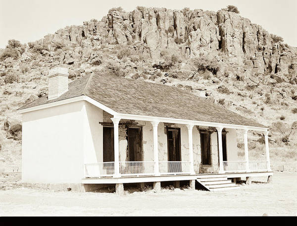 Photograph - 1009.310 Fort Davis Texas Antique Black And White by M K Miller