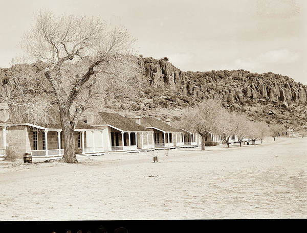 Photograph - 1009.312 Fort Davis Texas Antique Black And White by M K Miller