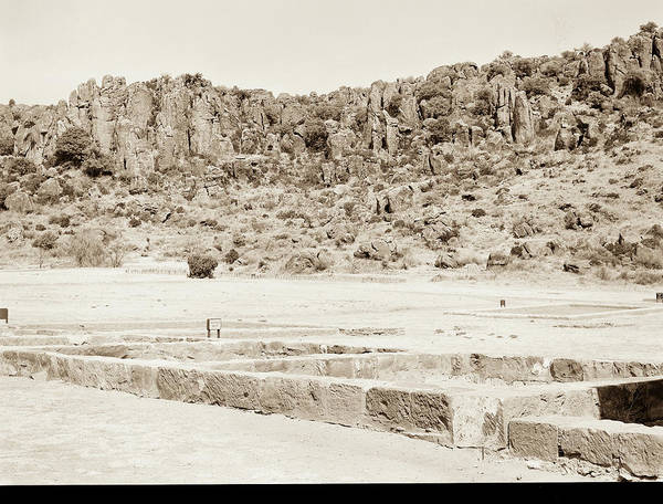 Photograph - 1009.313 Fort Davis Texas Antique Black And White by M K Miller