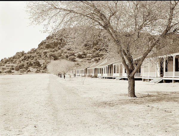 Photograph - 1009.315 Fort Davis Texas Antique Black And White by M K Miller