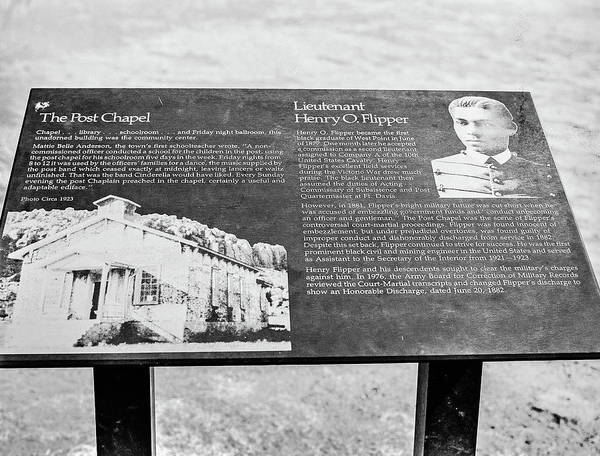 Photograph -  1009.506 Fort Davis Texas Classic Black And White by M K Miller