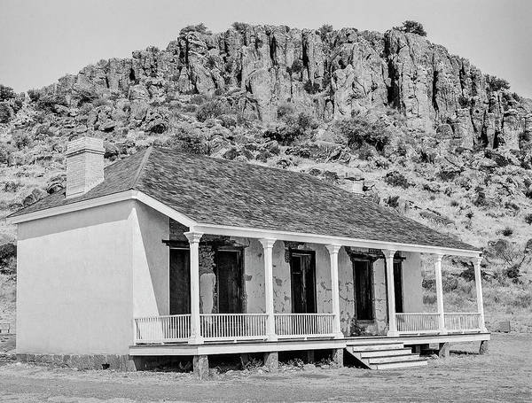 Photograph - 1009.510 Fort Davis Texas Classic Black And White by M K Miller