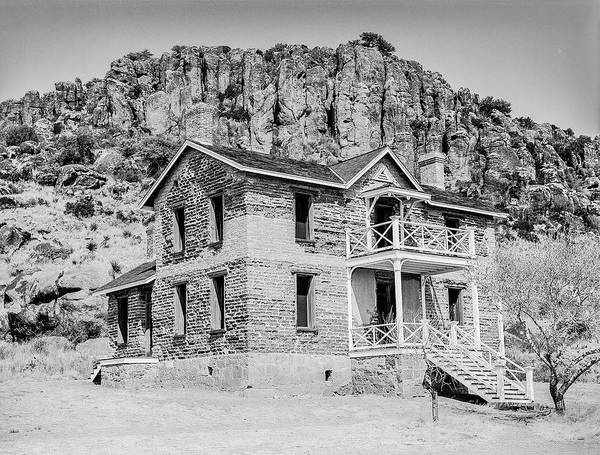 Photograph - 1009.511 Fort Davis Texas Classic Black And White by M K Miller