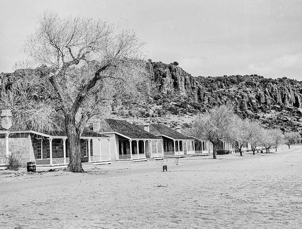 Photograph - 1009.512 Fort Davis Texas Classic Black And White by M K Miller