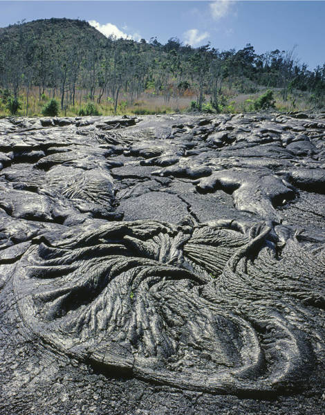 Photograph - 100964 Lava Flow Patterns Hi by Ed Cooper Photography