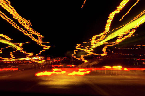 Photograph - 101 Southbound At Night by Richard Henne
